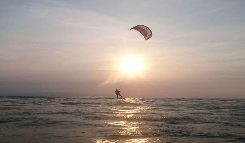 Kitesurfen im Wattenmeer, © Die Nordsee GmbH, Jantje Olchers