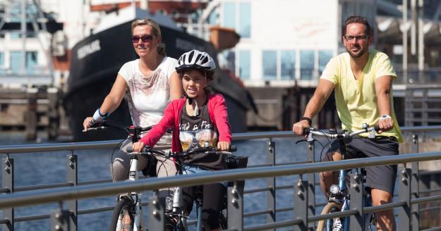 Radfahren in Bremerhaven, © Helmut Gross