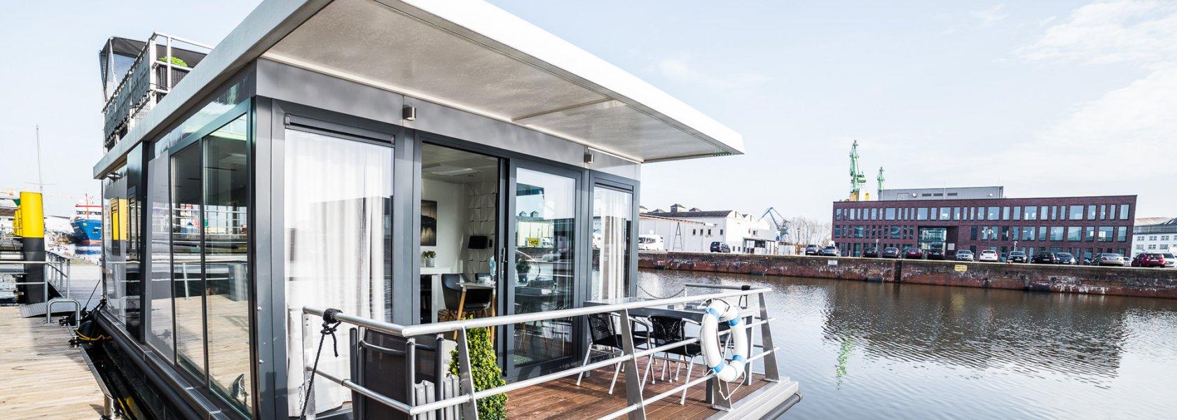 Hausboot Bremerhaven, © Husboat erleben GbR