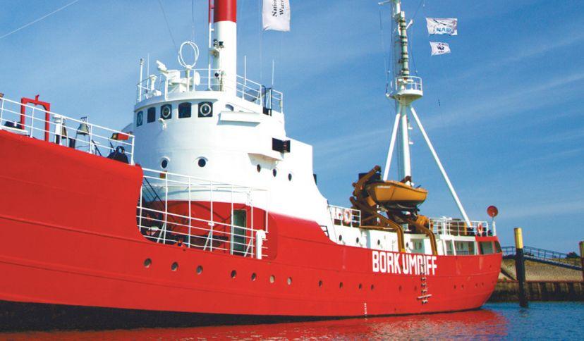 Nationalpark-Schiff auf Borkum, © Nationalparkverwaltung Niedersächsisches Wattenmeer, André Thorenmeier