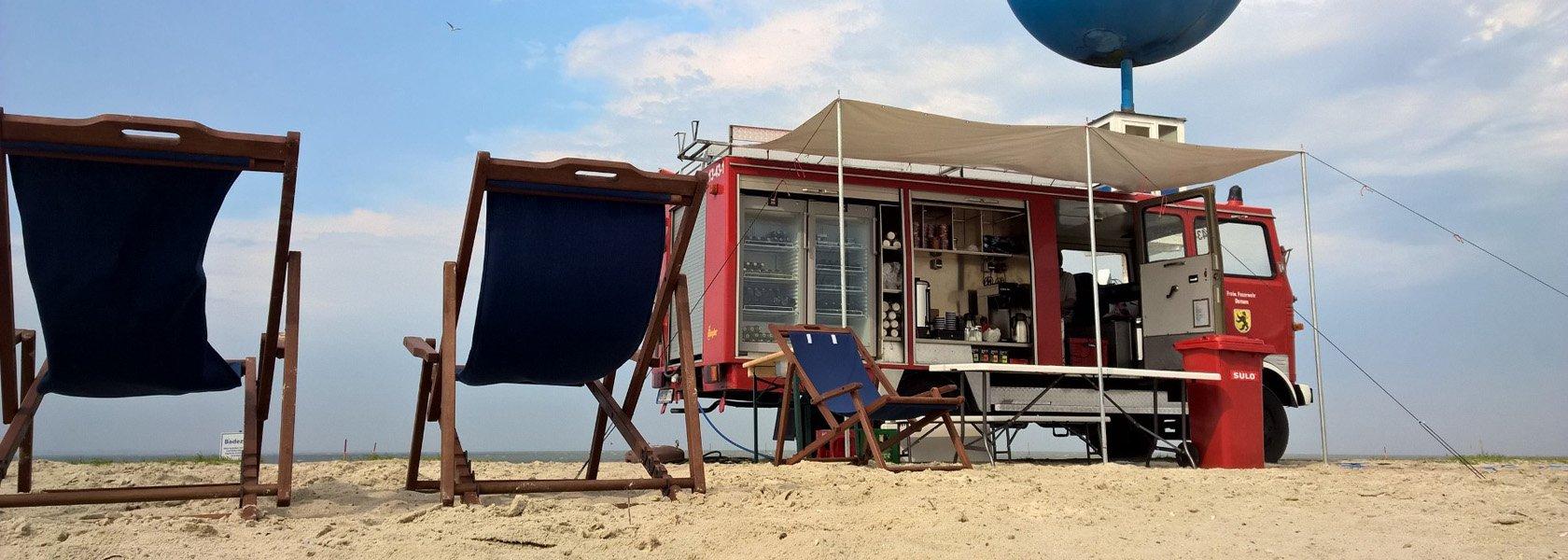 Durstlöscher am Strand, © Tourismus GmbH Gemeinde Dornum