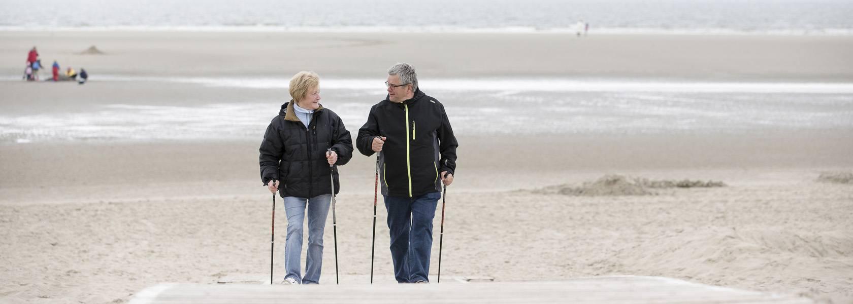 Nordic Walking am Strand, © Martin Stöver