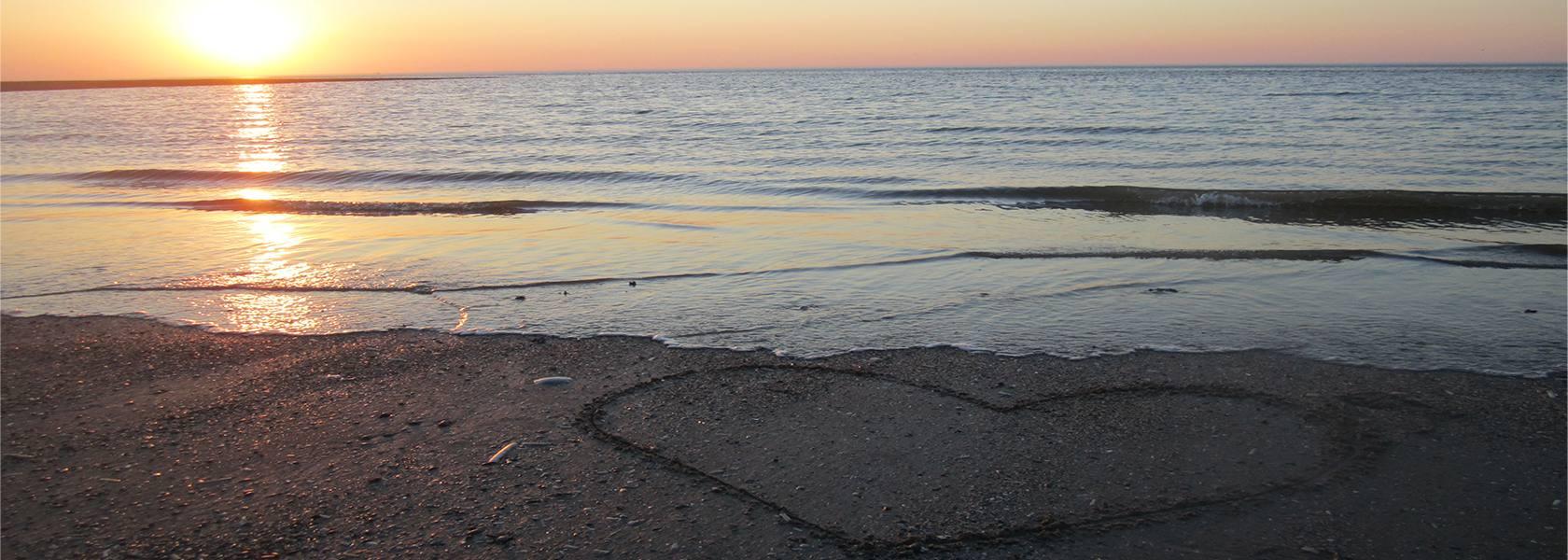Herz im Sand, © Die Nordsee GmbH, Jantje Olchers