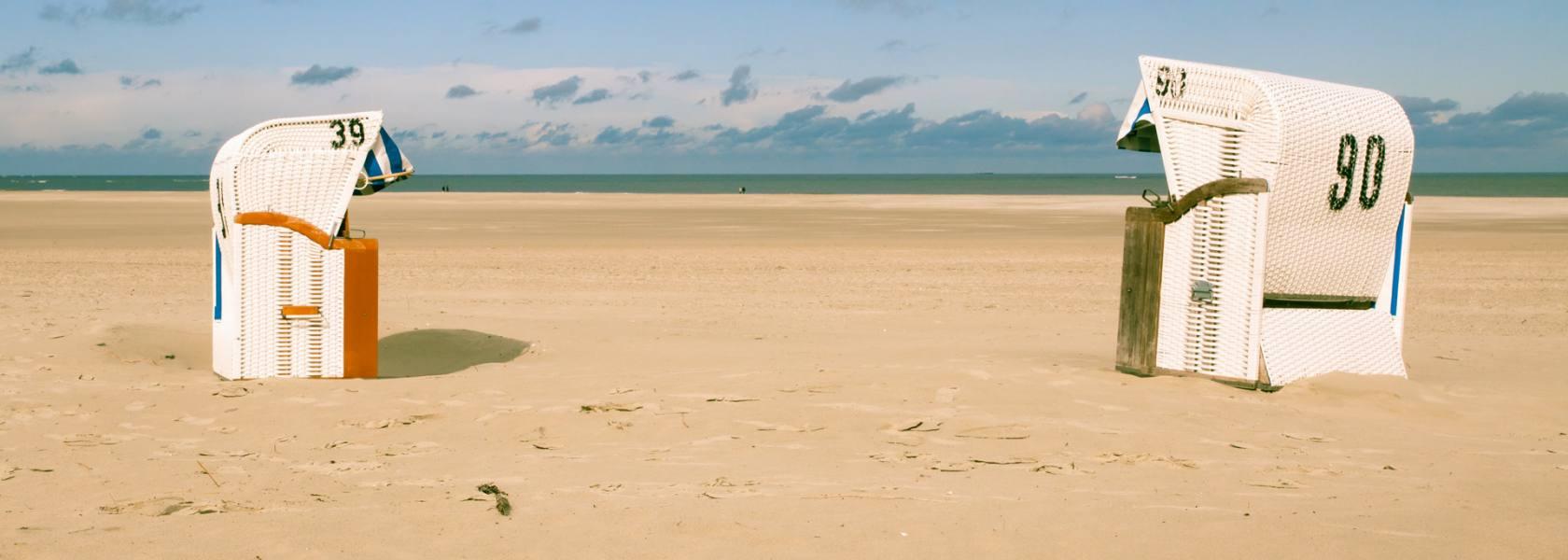 Strandkörbe auf Spiekeroog, © Dietmar Scherf