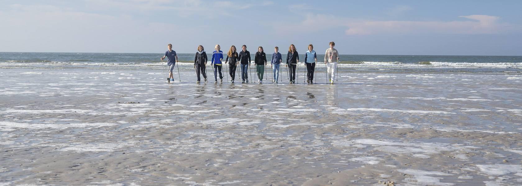 Nordic Walking im Watt, © Die Nordsee GmbH, Martin Stöver