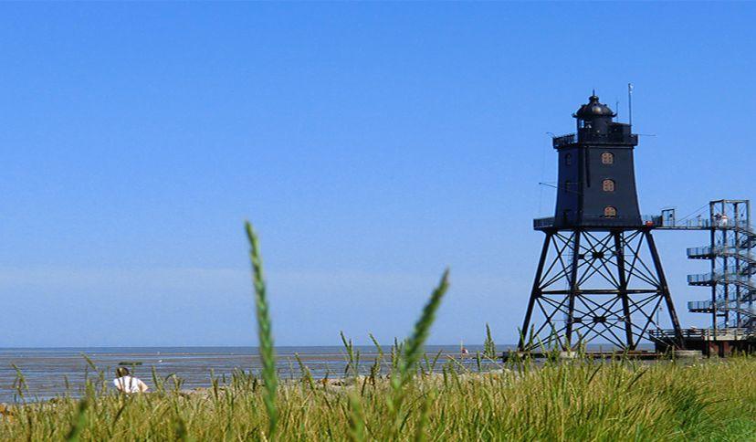 Leuchtturm Obereversand, © Kurverwaltung Wurster Nordseeküste