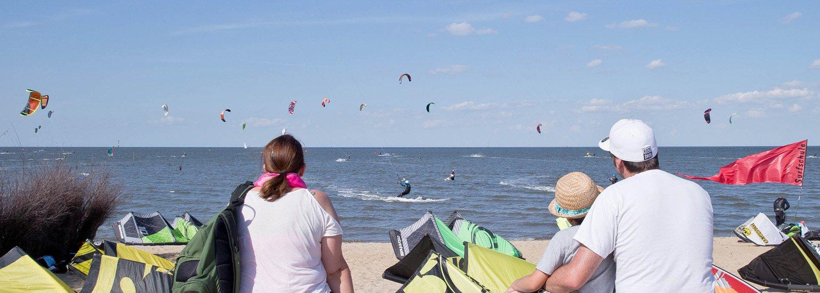 Kitesurfer in Cuxhaven, © Nordseeheilbad Cuxhaven GmbH