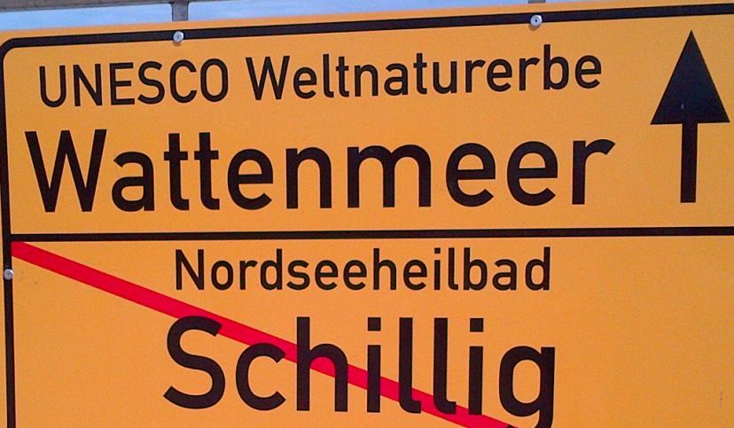 Ortsschild Wattenmeer, © Die Nordsee GmbH, Katja Benke