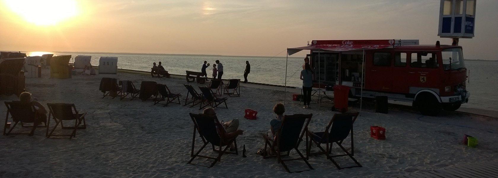 Durstlöscher im Sonnenuntergang, © Tourismus GmbH Gemeinde Dornum