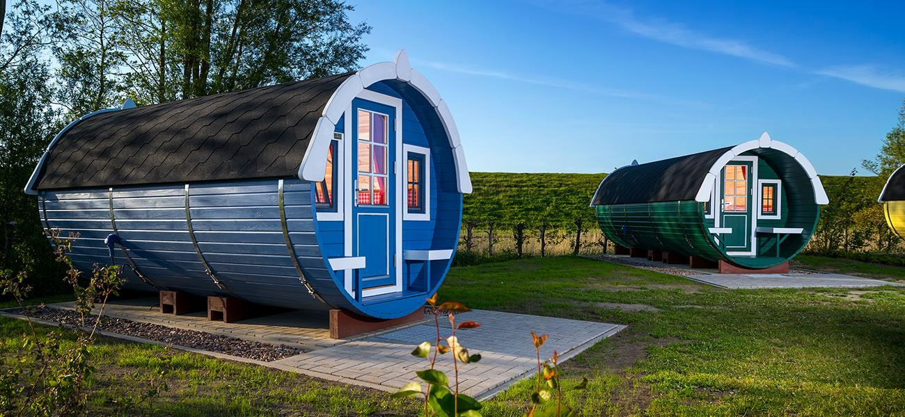 Campingfass blau und grün, © Otterndorf Marketing GmbH
