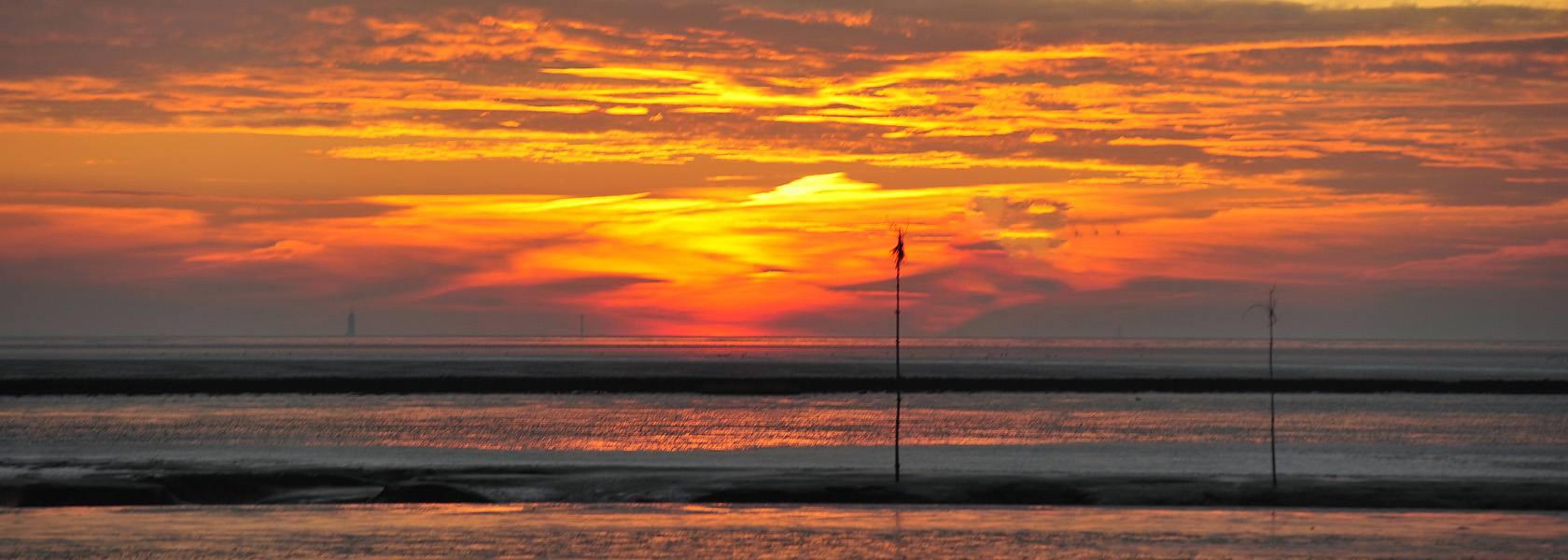 Sonnenuntergang am Priel, © Beate Ulich / Die Nordsee GmbH