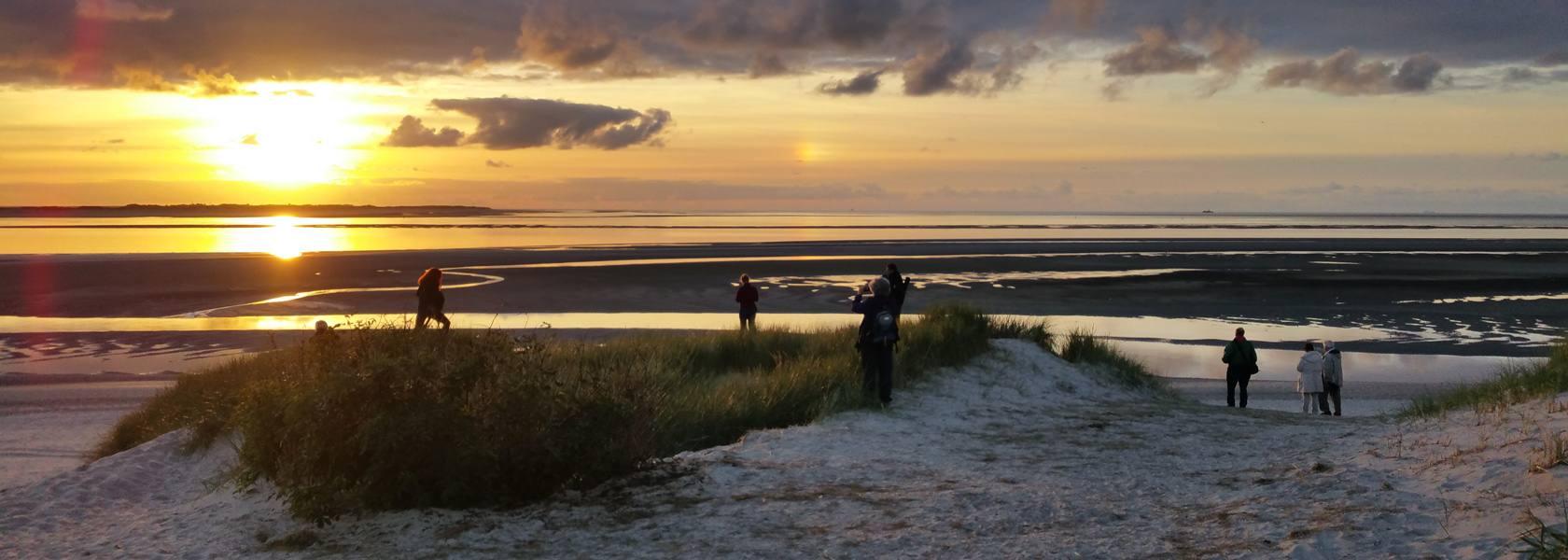 Sonnenuntergang auf der Insel, © Jantje Olchers, Die Nordsee GmbH