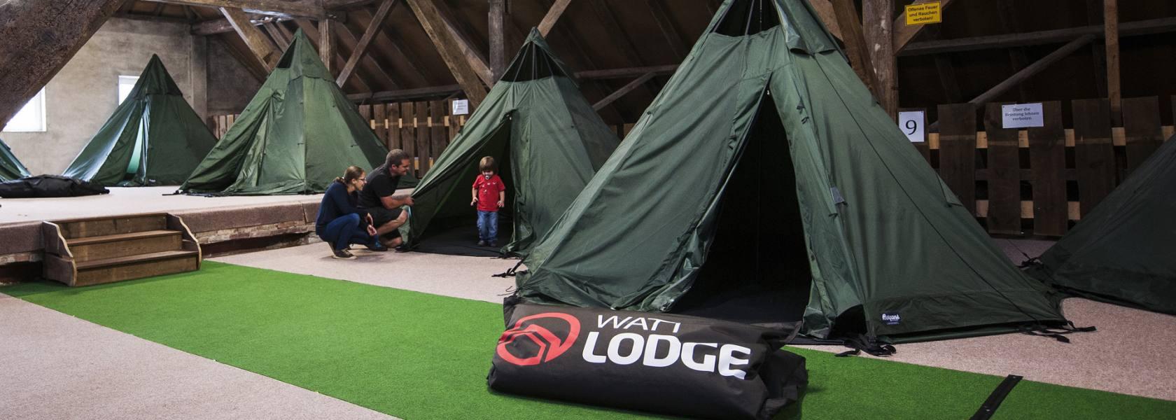 Tipi-Zelte in der Watt Lodge, © Florian Trykowski