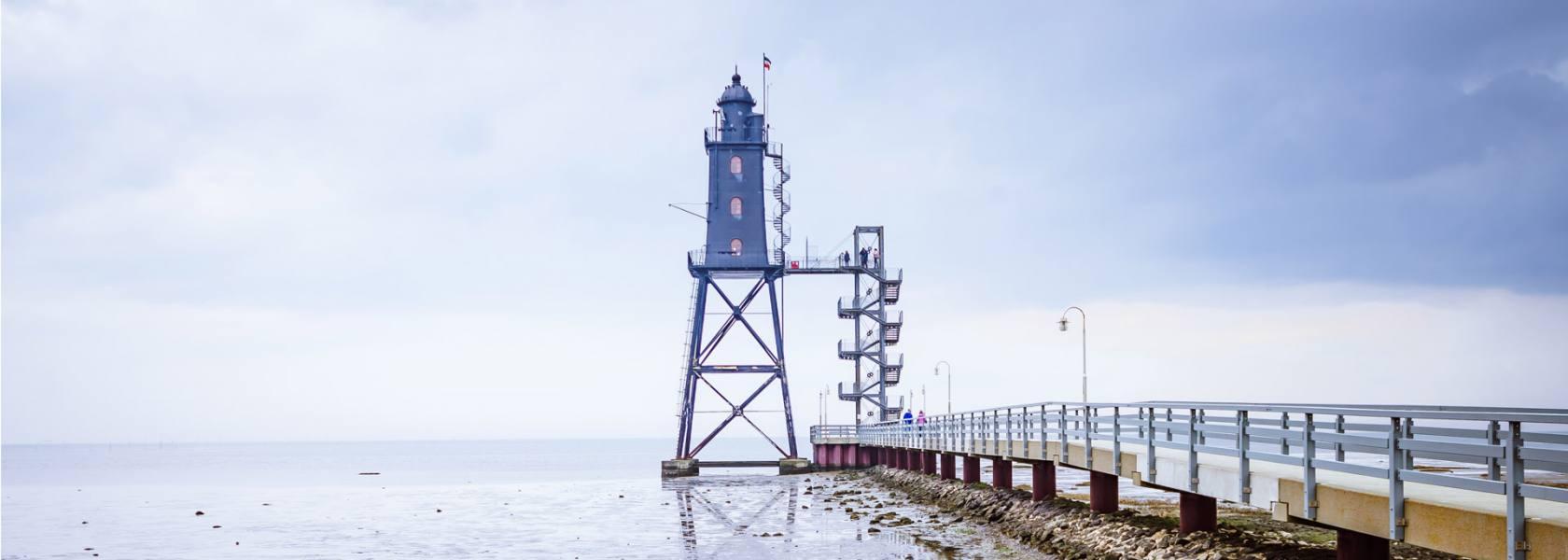 Leuchtturmdenkmal Obereversand, © Tobias Hoiten