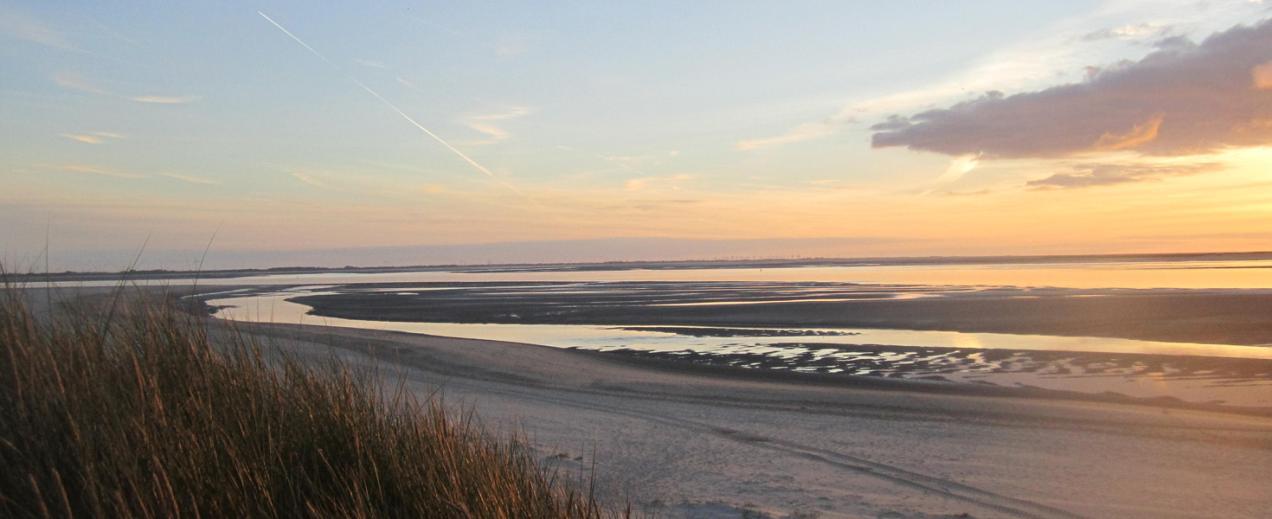 Sonnenuntergang auf der Insel, © Die Nordsee GmbH, Jantje Olchers