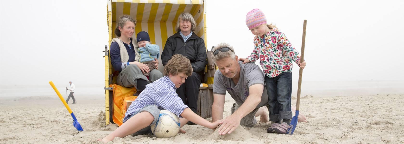 Familie am Strand, © Martin Stöver
